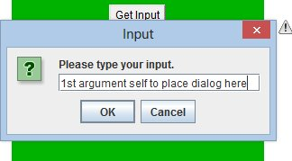 Input dialogue applet (280 x 180) in action